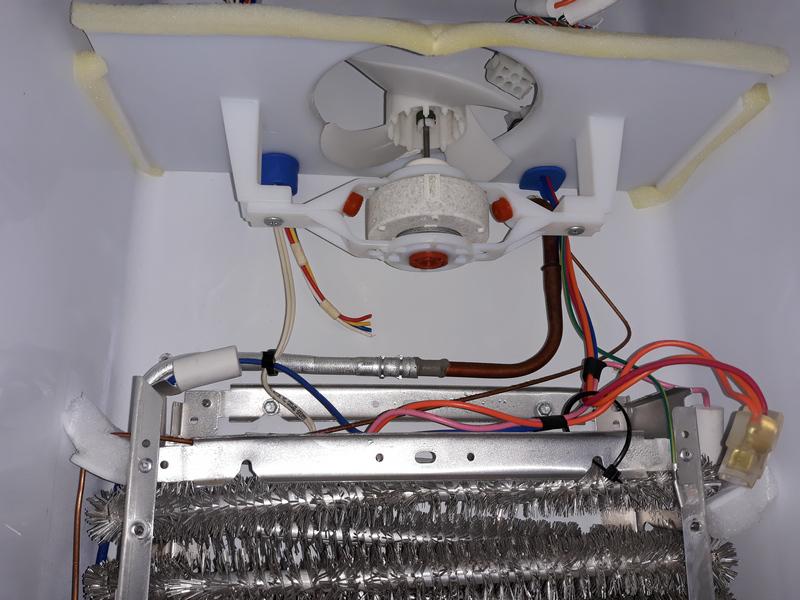 appliance repair refrigerator repair not cooling fan blade broken and cut wiring iris street altamonte springs fl 32714